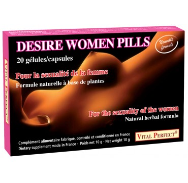 Desire Women pills stimulant aphrodisiaque femme par Vital Perfect